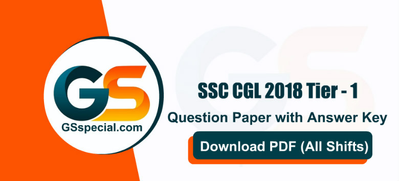 SSC CGL 2018 Prelims Question Papers PDF in Hindi - Download (All Shifts)